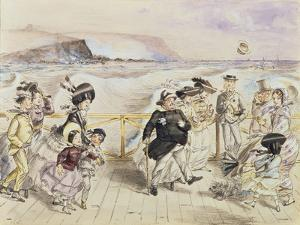 A Bracing Day at the Seaside by John Leech