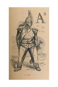 'A Gaul', 1852 by John Leech