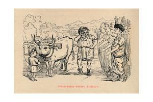 'Cincinnatus chosen Dictator', 1852 by John Leech