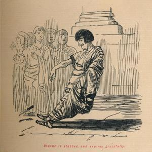 'Drusus is stabbed, and expires gracefully', 1852 by John Leech