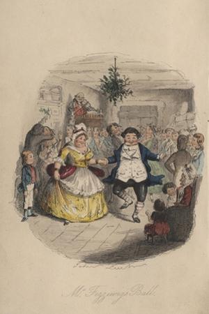 Fezziwig's Ball - a Christmas Carol, 1843 by John Leech