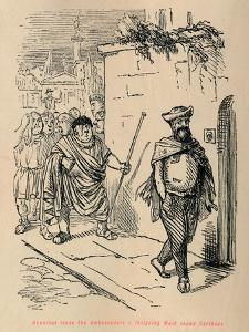 'Hannibal leads the Ambassadors a fatiguing Walk round Carthage', 1852 by John Leech