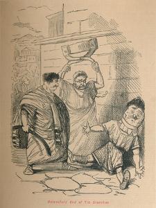 'Melancholy End of Tib Gracchus', 1852 by John Leech