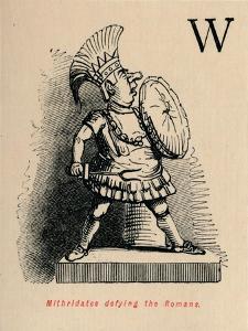'Mithridates defying the Romans', 1852 by John Leech