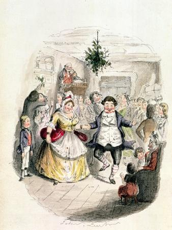 "Mr. Fezziwig's Ball, from ""A Christmas Carol"" by Charles Dickens (1812-70) 1843"