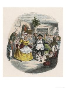 Mrs Fezziwig's Ball, Shown to Scrooge by the Ghost of Christmas Past by John Leech