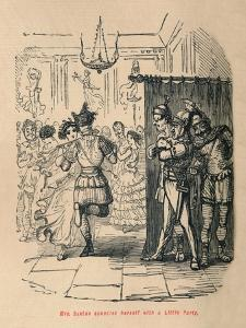 'Mrs Sextus consoles herself with a Little Party', 1852 by John Leech