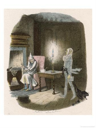 Scrooge Receives a Visit from the Ghost of Jacob Marley His Former Business Partner