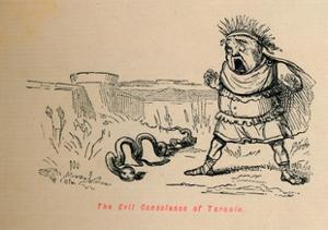 'The Evil Conscience of Tarquin', 1852 by John Leech