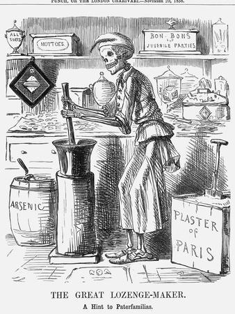 The Great Lozenge-Maker, a Hint to Paterfamilias, 1858
