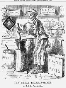 The Great Lozenge-Maker, a Hint to Paterfamilias, 1858 by John Leech