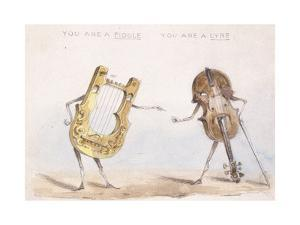 You are a Fiddle, You are a Lyre, after 1864 by John Leech
