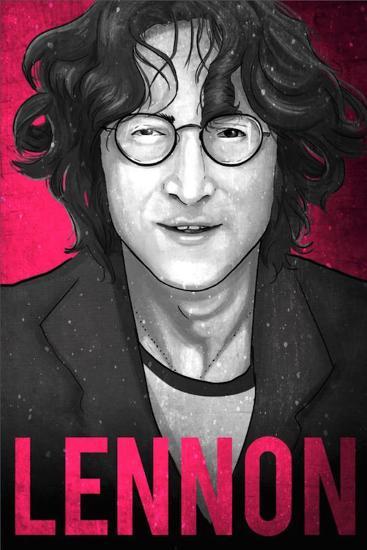b941aa38d2fc2 John Lennon Illustration Art Print by Lynx Art Collection