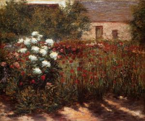 Garden at Giverny, c.1890 by John Leslie Breck