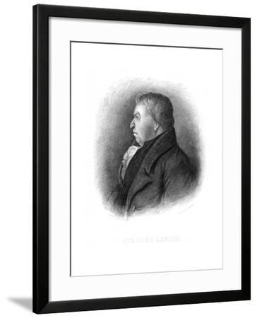 John Leslie, Scottish Natural Philosopher and Physicist, 19th Century-Benjamin William Crombie-Framed Giclee Print