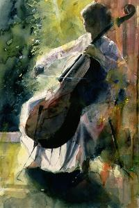 Anna Playing the Cello by John Lidzey