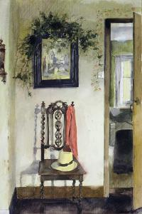 Interior with Hat and Scarf by John Lidzey