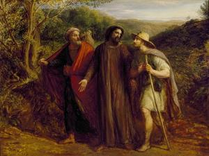 Christ's Appearance to the Two Disciples Journeying to Emmaus, 1835 by John Linnell