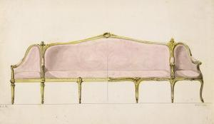 Design for a Settee by John Linnell