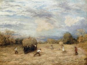 Hay and Haste, 1875 by John Linnell