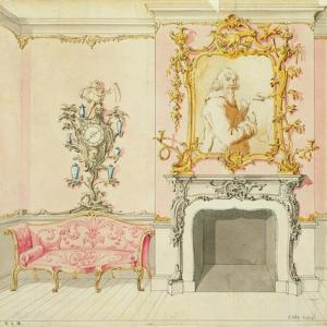 Proposal for a Drawing Room Interior, 1755-60 by John Linnell