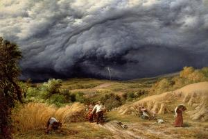 Storm in Harvest, 1856 by John Linnell
