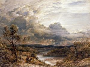 Sun Behind Clouds, 1874 by John Linnell