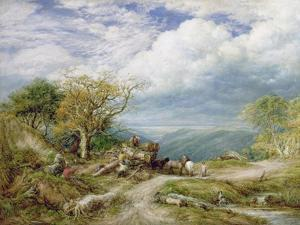 The Timber Waggon, 1872 by John Linnell