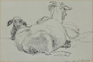 Two Sheep by John Linnell