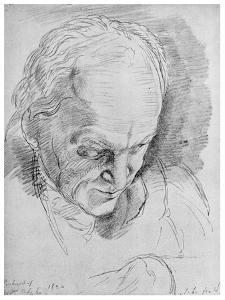 William Blake, English Mystic, Poet, Artist and Engraver, 19th Century by John Linnell