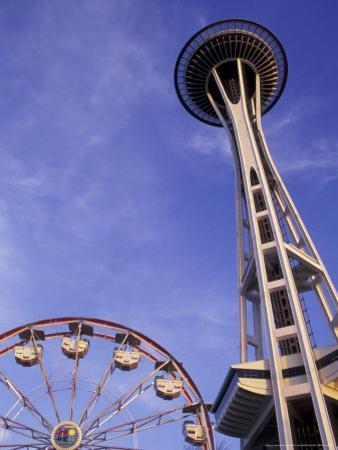 Amusement Park Ride at Seattle Center, Seattle, Washington, USA