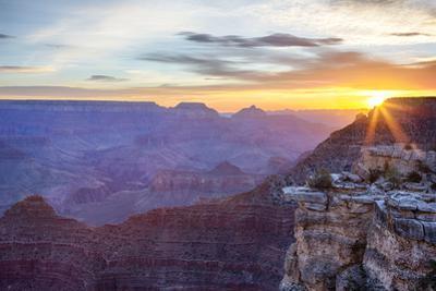 Arizona, Grand Canyon National Park, South Rim, Mather Point, Sunrise by John & Lisa Merrill