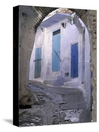 Blue Doors and Whitewashed Wall, Morocco