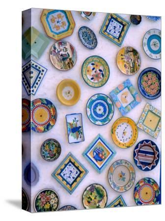 Ceramic Plates on Shop Wall, Algarve, Portugal