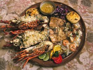 Close-up of Seafood Platter, Puerto Vallarta, Mexico by John & Lisa Merrill