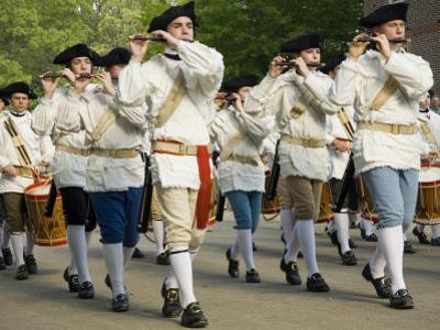 Drum And Fife Parade, Williamsburg, Virginia, USA