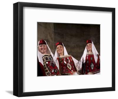 Folk dancers in traditional costumes perform in Diocletian's Palace, Split, Dalmatia, Croatia