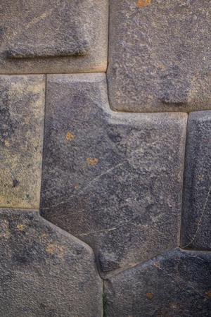 Inca Stone Wall Detail, Sacred Valley, Ollantaytambo, Cuzco, Peru