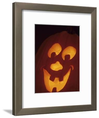 Jack-O-Lantern Lit at Halloween, Washington, USA