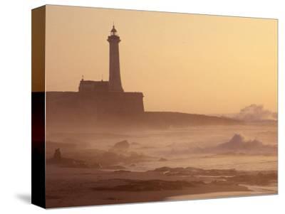 Lighthouse at Sunset with Crashing Waves, Morocco