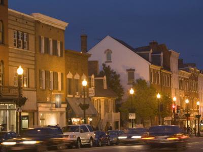 M Street Northwest At Dusk, Georgetown, Washington D.C., USA