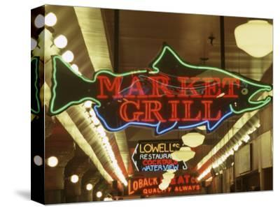 Neon Signs in Pike Place Market, Seattle, Washington, USA