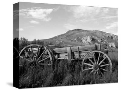 Old Wood Wagon near Mining Ghost Town at Bannack State Park, Montana, USA