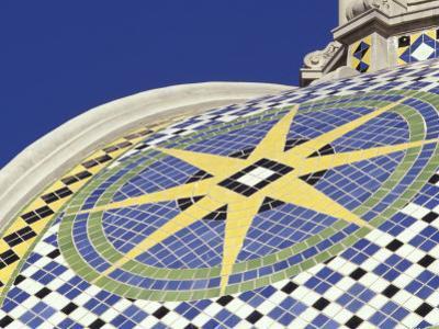 Starburst Tile Pattern on California Dome, Balboa Park, San Diego, California, USA