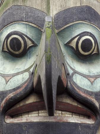Totem Pole in Pioneer Square, Seattle, Washington, USA