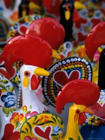 Traditional Ceramic Roosters, Portugal