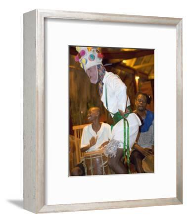 Traditional Garifuna Masked Dancer, Placencia, Stann Creek District, Belize