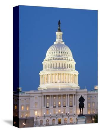 U.S. Capitol And Reflecting Pool at Night, Washington D.C., USA