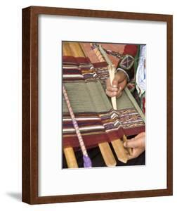 Woman in Traditional Dress, Weaving with Backstrap Loom, Chinchero, Cuzco, Peru by John & Lisa Merrill