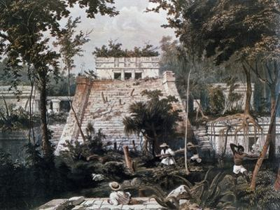 Temples of Tulum by Frederick Catherwood Taken from Incidents of Travel in Central America by John Lloyd Stephens